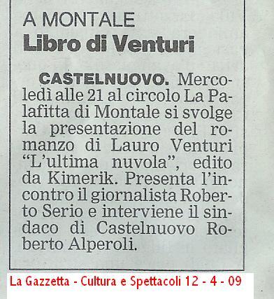 La Gazzetta di Modena – 12 aprile 2009