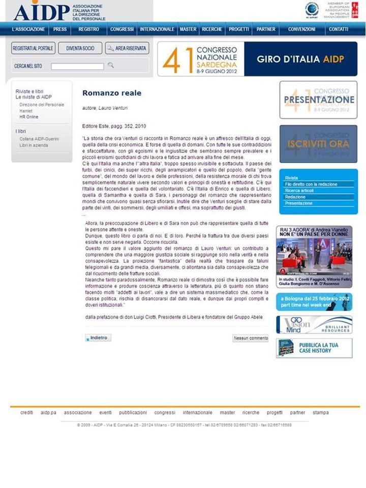 HR On line AIDP – maggio 2011