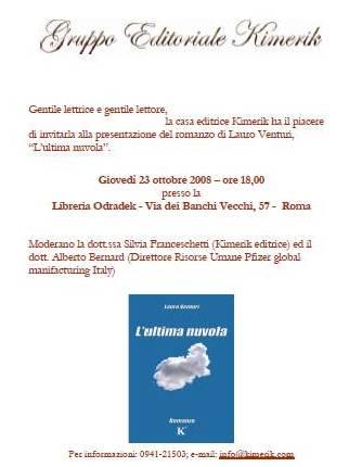 Locandina L'ultima nuvola roma