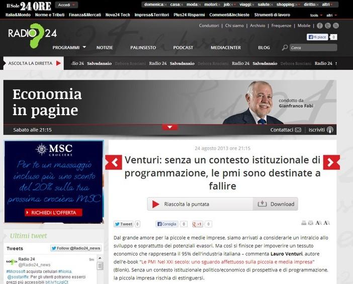 Radio 24 PMI XXI Secolo