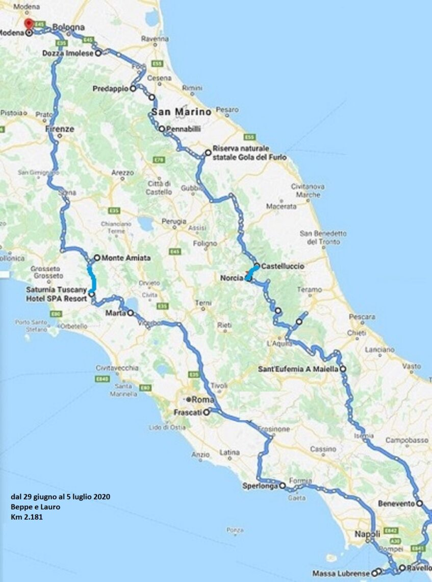 itinerario completo