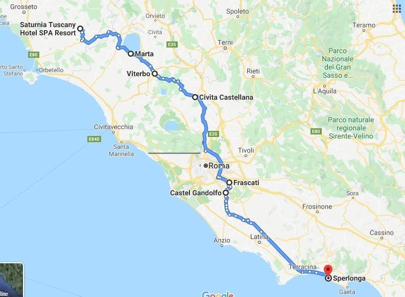 itinerario secondo giorno