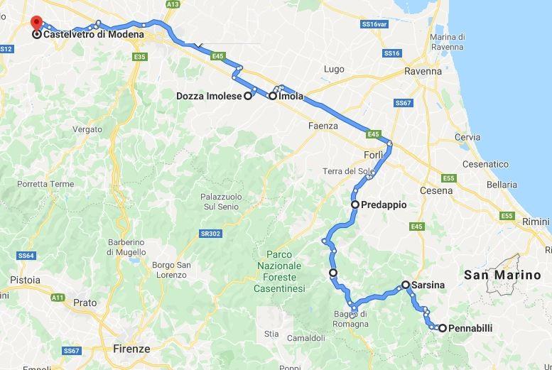 itinerario sesto giorno