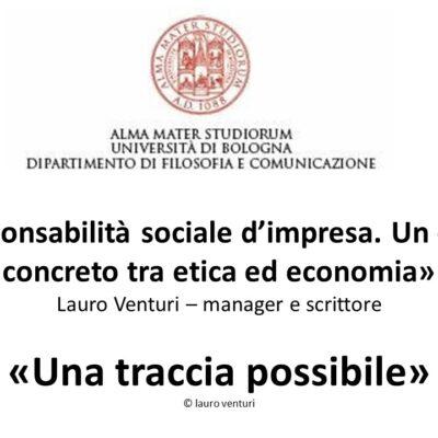 La responsabilità sociale e civile dell'impresa: un contatto concreto tra etica ed economia